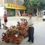 Choáng xe hơi làm bằng gỗ xù xì