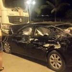 Quảng Ninh: Toyota Camry đấu đầu ô tô tải, hỏng từ đầu đến đuôi