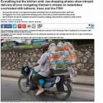 Báo Anh Dailymail choáng siêu xe chở hàng quá tải ở Việt Nam