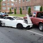 Siêu xe Lamborghini giả tai nạn đâm vào nhiều xe khác