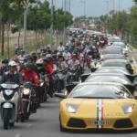 Hàng chục siêu xe đua tốc độ phân cao thấp