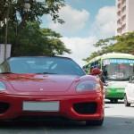 Siêu xe Ferrari F360 mui trần đời cũ xuất hiện trên phố