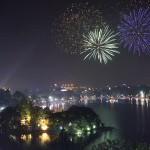 Màn bắn pháo hoa tuyệt đẹp trong đêm 2/9/2015