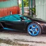 Ngắm siêu xe Lamborghini Gallardo SE độc nhất chuyển màu đen