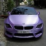 BMW M6 thể thao màu tím không bóng tại Sài Gòn