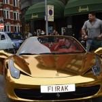 Ngắm siêu xe Ferrari 458 mui trần bọc vàng ngoại thất