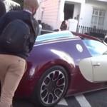 Siêu xe Bugatti Veyron chết máy cần người đẩy giúp