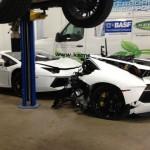 Siêu xe Lamborghini Aventador bị tai nạn tan nát giá bán vẫn đắt