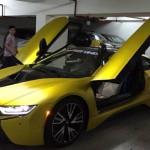 Đại gia Việt đổi màu siêu xe BMW i8 trắng sang vàng
