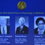 Tên 3 nhà khoa học đoạt giải Nobel Y học 2015