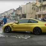 Toyota Avanza đâm BMW M4 do vi phạm giao thông