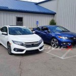 Lộ ảnh bộ đôi Honda Honda Civic đỗ cạnh nhau