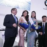Vừa đăng quang hoa hậu, á hậu đã tham gia triển lãm xe VIMS 2015