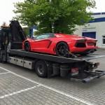 Siêu xe Lamborghini Aventador màu da cam về Việt Nam