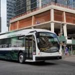 Choáng siêu xe bus cỡ lớn chạy điện đường dài