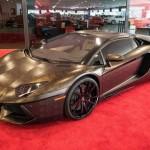 Siêu xe khủng Lamborghini Aventador bọc da rắn