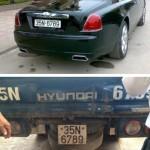 Xe siêu sang Rolls royce ghost lắp biển giả ở Ninh Bình