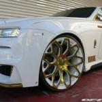 Ngắm xe siêu sang Rolls-Royce Wraith độ vàng nguyên chất