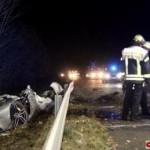 Siêu xe Ferrari FF tai nạn tan nát vợ chồng đại gia tử vong