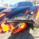 Siêu xe Ferrari FXX giá 2 triệu đô bị tai nạn nát đầu