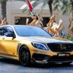 Xe siêu sang Mercedes S65 AMG bọc vàng hấp dẫn