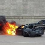 Siêu xe khủng Corvette C6 độ cực mạnh tai nạn bốc cháy