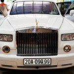 Cận cảnh xe siêu sang Phantom mạ vàng biển tứ quý 9 Thái Nguyên