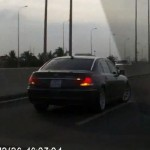 BMW 7 series lùi tốc độ 120 km/h trên đường cao tốc Việt Nam