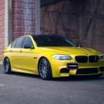 Ngắm xe sang BMW M5 độ thể thao vàng óng