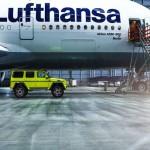 Mercedes G500 khoe thân cùng máy bay Airbus A380