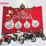 Mua xe máy Honda có cơ hội nhận quà dịp Giáng sinh