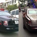 Rolls royce Phantom rước dâu ở Hà Nội là Phantom rồng đổi màu sơn