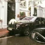 Xe siêu sang Phantom lửa thiêng làm xe hoa ở Hà Nội