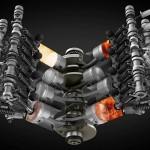 Choáng động cơ xe V8 bằng giấy hoạt động bình thường