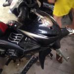 Trộm táo tợn ăn cắp 2 bánh xe máy ở Điện Biên