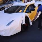 Bóc giấy dán Lamborghini Aventador SV hồi hộp như cưới vợ mới