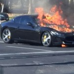 Siêu xe Maserati GranTurismo MC Stradale 10 tỷ cháy rụi trên đường
