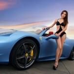 Đi siêu xe Ferrari mui trần tán gái nào cũng được