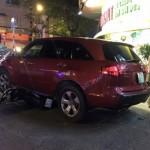 Xe sang Acura của ca sĩ Quách Thành Danh bị tai nạn