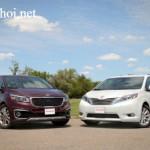 So sánh 2 xe Minivan mới Kia Sedona và Toyota Sienna 2016