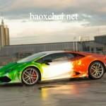 Ngắm siêu xe Lamborghini Huracan độ 7 màu cầu vồng