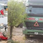 Nghệ An: Container đâm nát 2 xe con, 5 người bị thương nặng