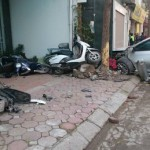 Xe Camry đâm vào 3 xe máy, 3 người chết tại chỗ