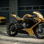 Siêu xe máy MV Agusta bày bán tại showroom Mercedes