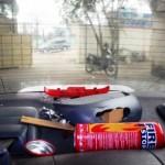 Thêm bình cứu hỏa phát nổ trong xe ô tô ở Thanh Hóa