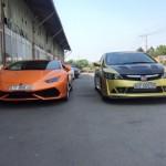 Siêu xe Lamborghini Huracan màu cam biển đẹp ở Sài Gòn