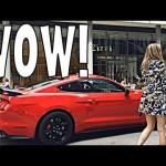 Vác xe thể thao Ford Mustang Shelby GT350R nẹt pô dọa phụ nữ