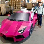 Siêu xe Lamborghini Aventador lắp ghép từ giấy như thật