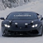 Lộ ảnh siêu xe Lamborghini Huracan Superleggera chạy trên tuyết