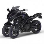 Siêu xe máy Yamaha MWT-09 mạnh mẽ, đa năng với 3 bánh xe